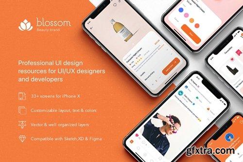 Blossom - Beauty mobile UI Kit