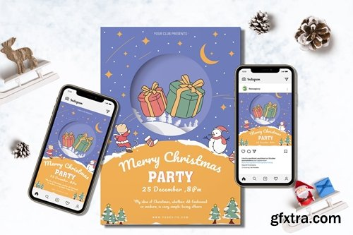 Christmas Party Flyer & Banner Ads