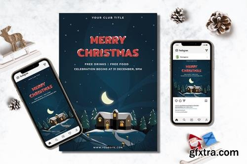 Merry Christmas Flyer & Instagram Post Design