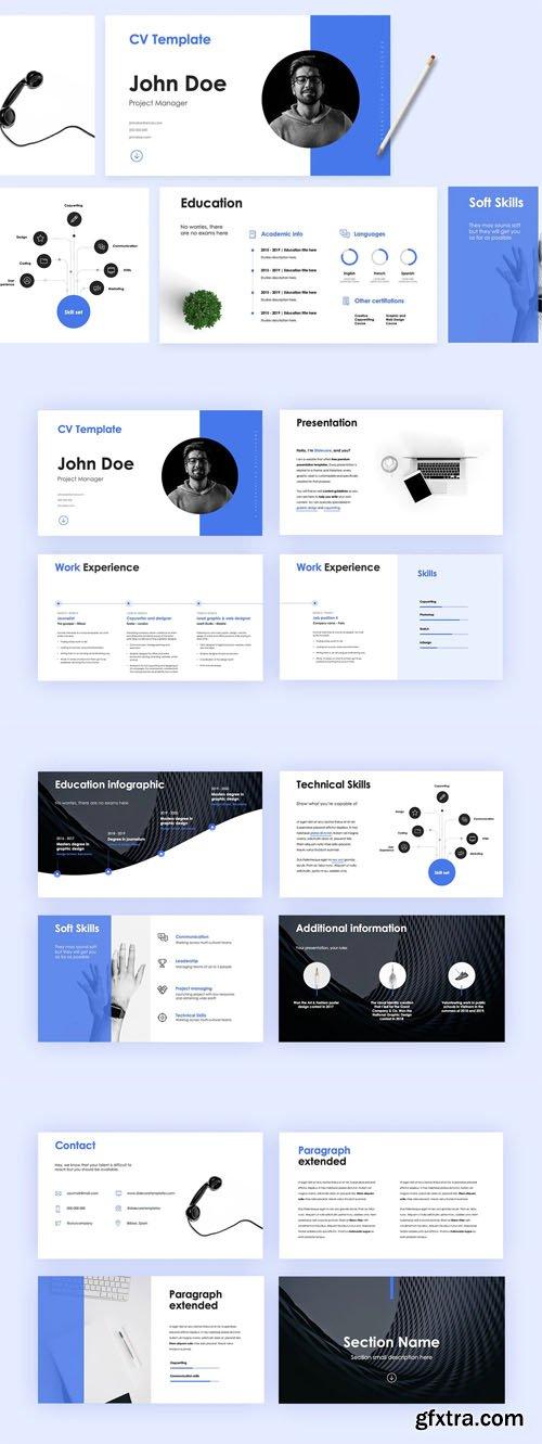 Zurich - CV Presentation PPTX Template