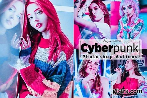 Cyberpunk Portrait Photoshop Actions