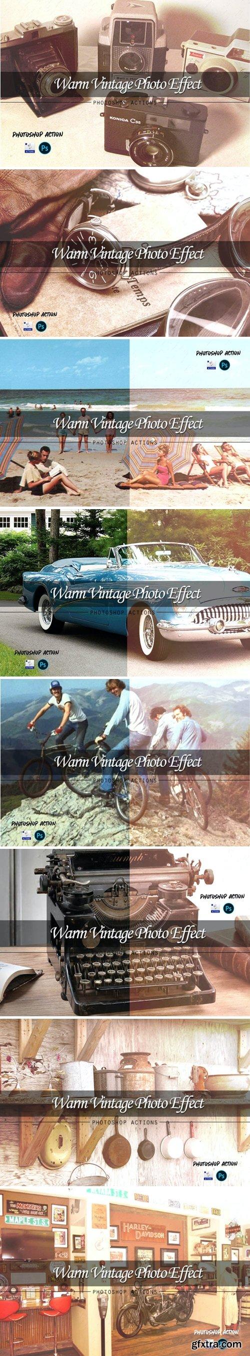 Warm vintage | PSD action