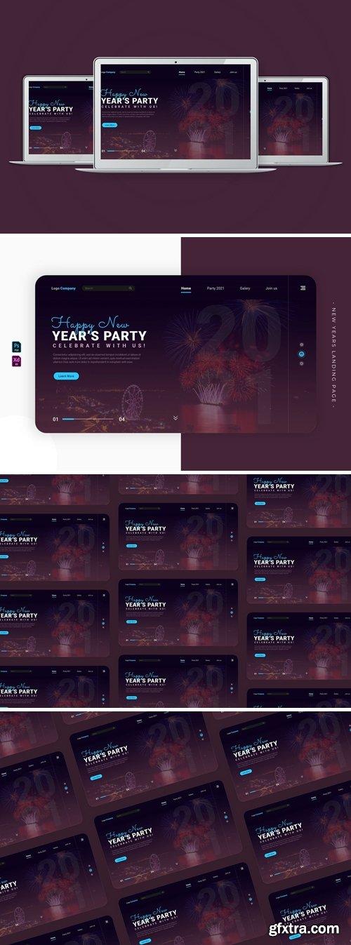 New Years Fireworkiys   Landing Page