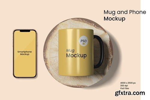 Mug and Phone Mockup