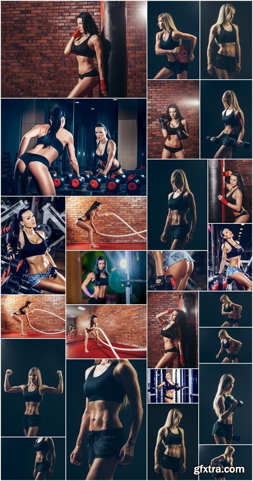 Athletic Girl 9 - Set of 25xUHQ JPEG Professional Stock Images