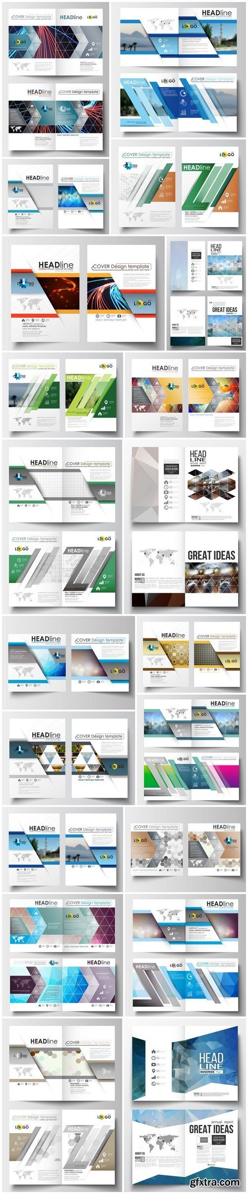 Cover design template, magazine, flyer, booklet or annual report 4 - 20xEPS Vector Stock