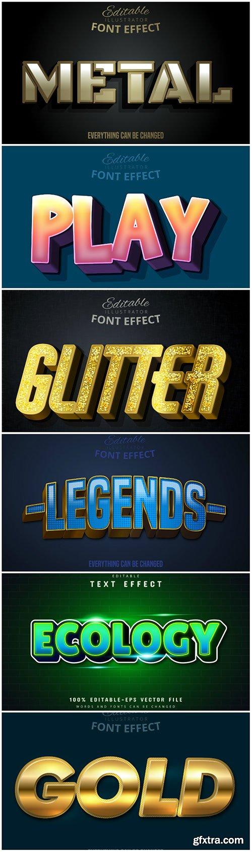 3d editable text style effect vector vol 161
