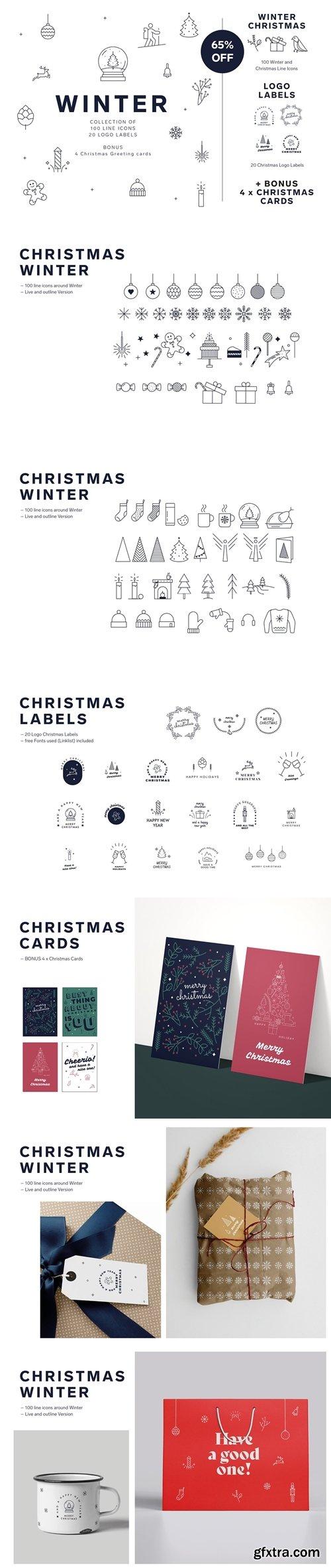 CreativeMarket - Christmas Winter Icon Set 5634282