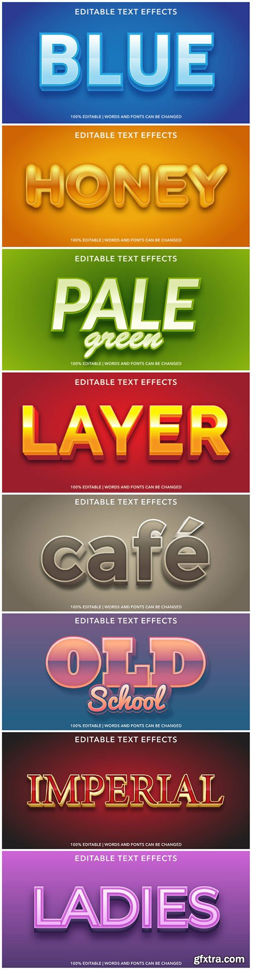 3d editable text style effect vector vol 168