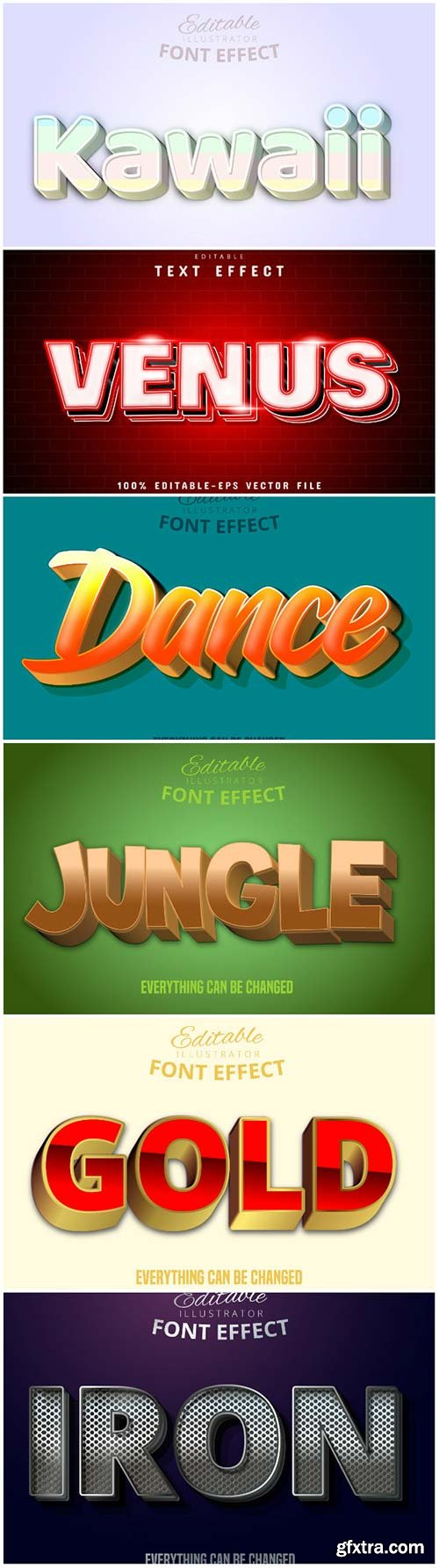 3d editable text style effect vector vol 167