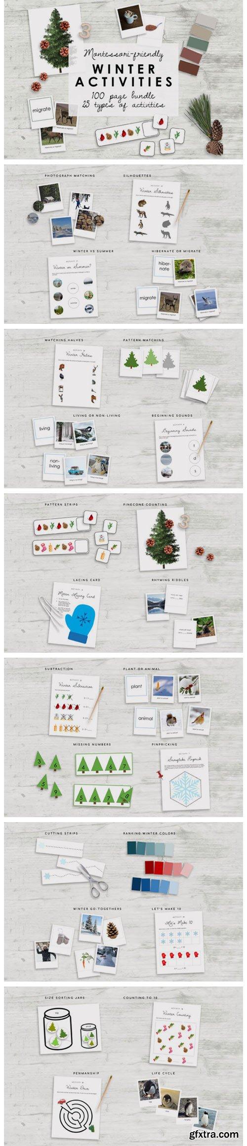 Montessori Winter Bundle | Kindergarten 7175613