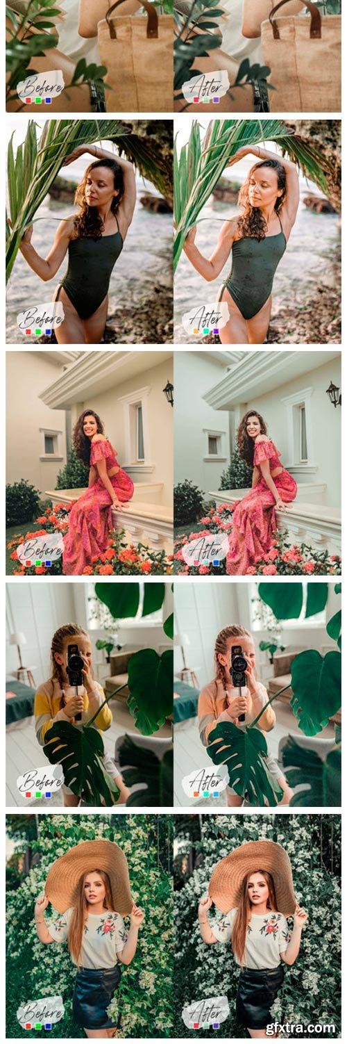 10 Avocado Mint Mood Photoshop Actions 6997450