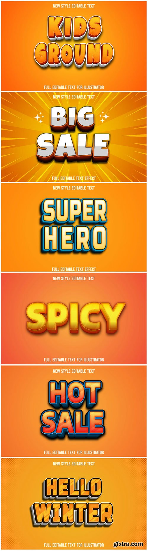 3d editable text style effect vector vol 202