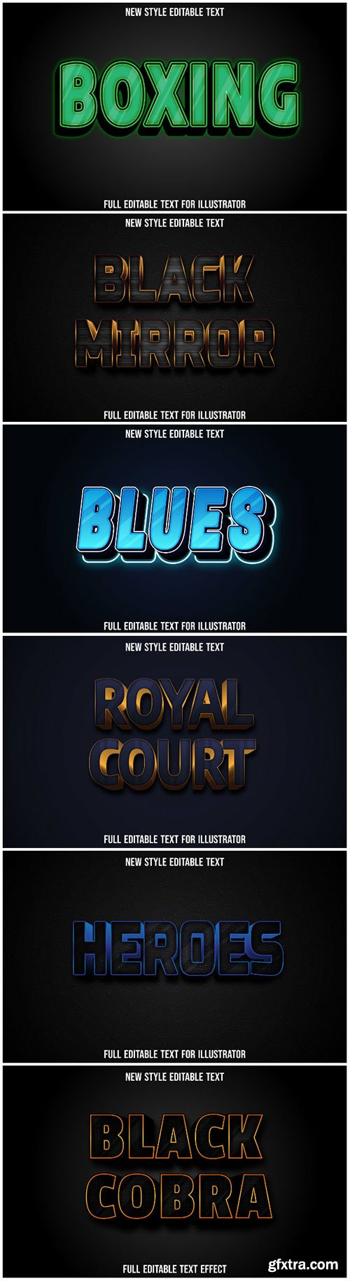 3d editable text style effect vector vol 196
