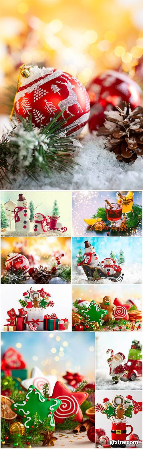 New Year and Christmas stock photos 87