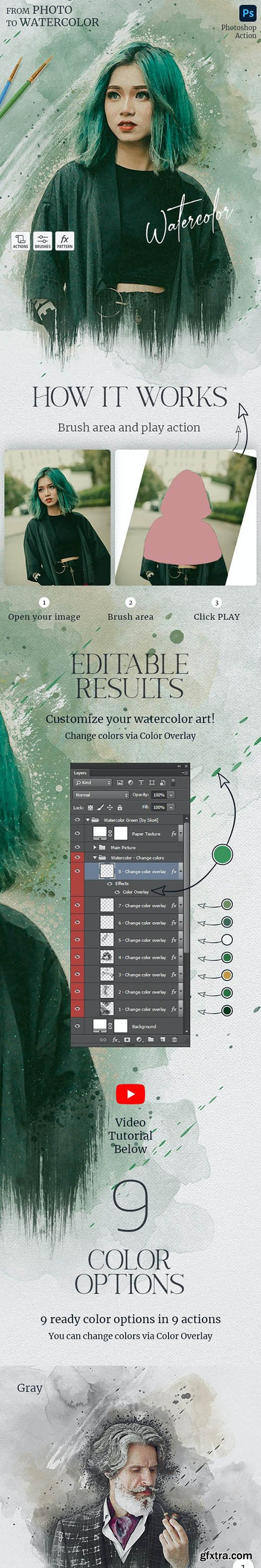 GraphicRiver - Watercolor Photoshop Action 29712797