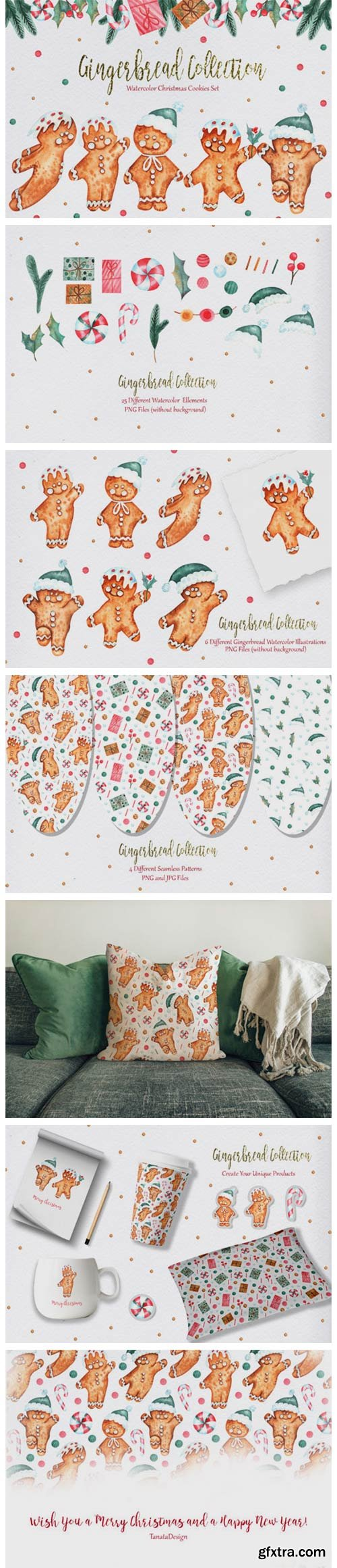 Watercolor Gingerbread Collection 7077770