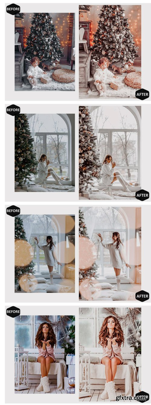 10 Glamour Xmas Mobile Lightroom Presets 7099082