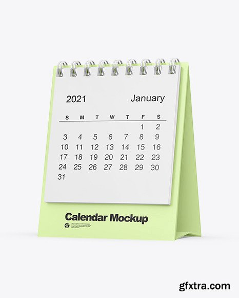 Table Desk Calendar Mockup 72358