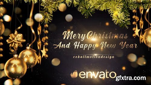 Videohive - Golden Christmas Wishes 4K - 29651275