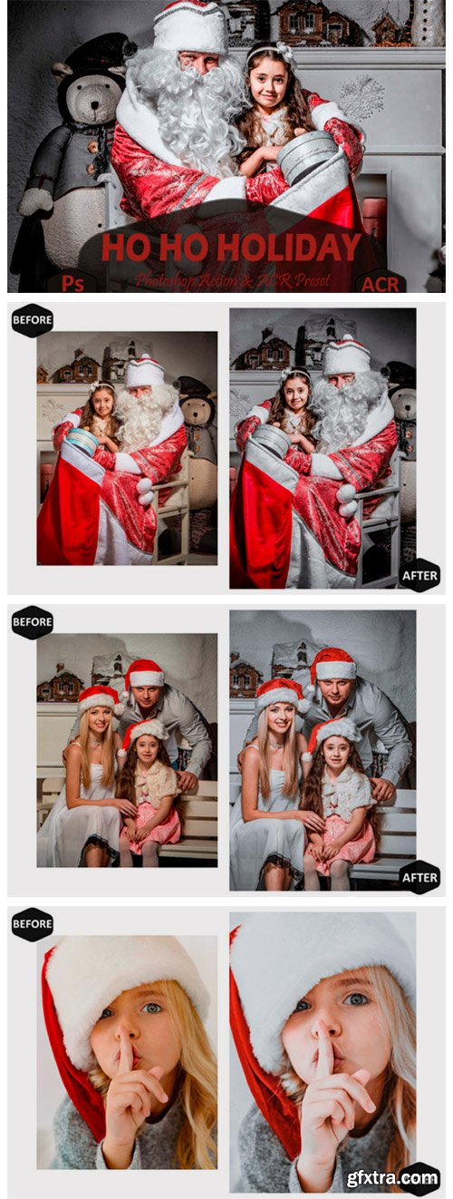 10 Ho Ho Holiday Photoshop Actions 7099826