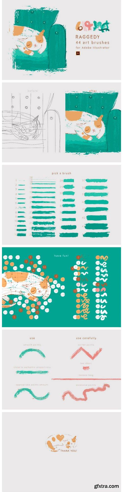 Raggedy Art Brushes for Illustrator 6941270