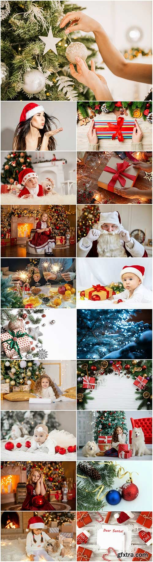 Happy new and Merry christmas holidays stock photo