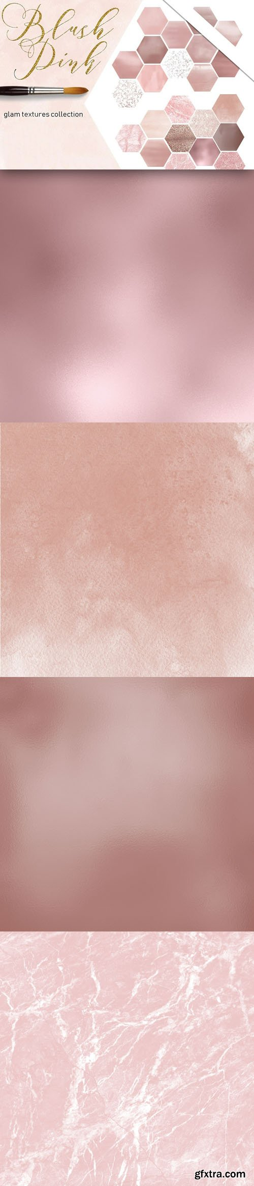 Blush Pink - Glam Textures Collection
