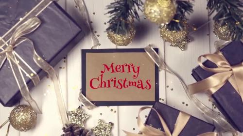 MotionArray - Gold Christmas Slideshow - 884771