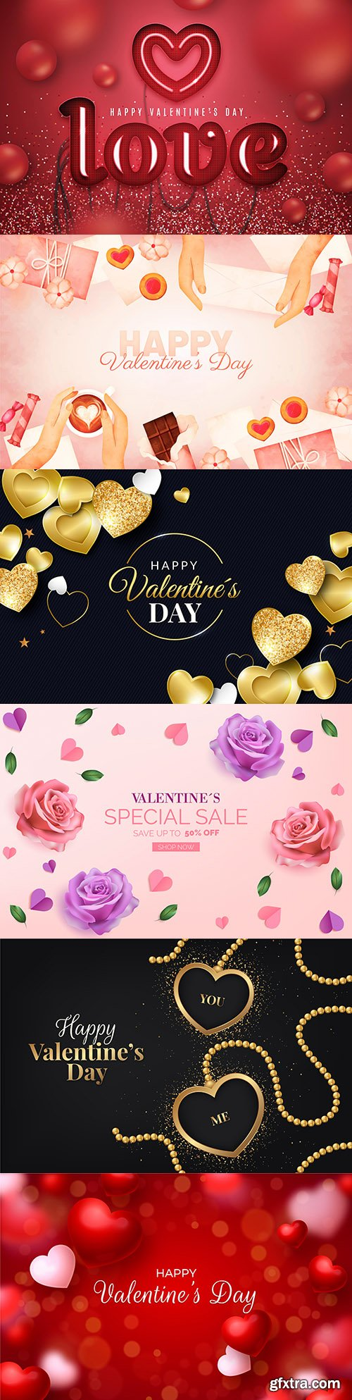 Valentine's Day sale and background with heart of gold 3