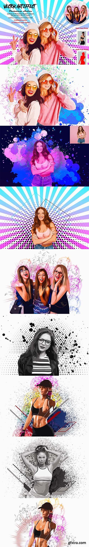 CreativeMarket - Vector Art Effect Photoshop Action 5514395