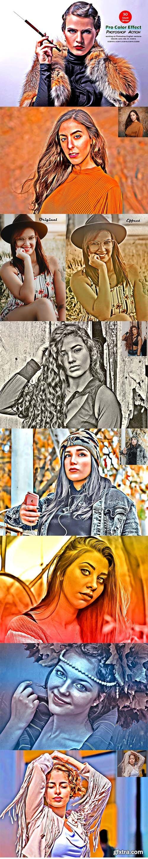 CreativeMarket - Pro Color Effect Photoshop Action 5521924