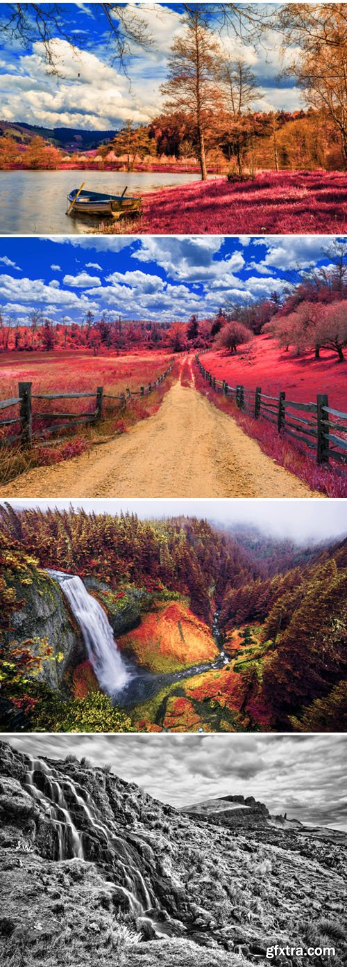 HDR & Infrared Photo Effects Actions for Photoshop