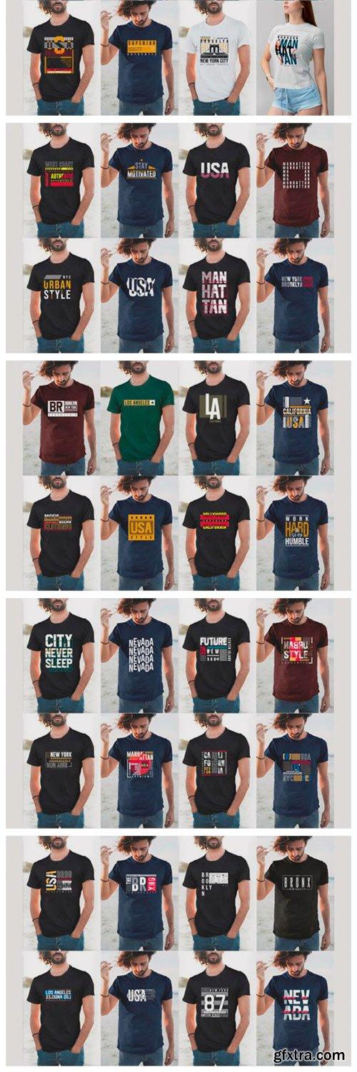 Urban Street T-shirt Design Bundle 6726832