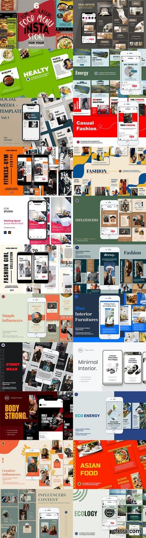 Instagram Posts and Stories Templates Pack