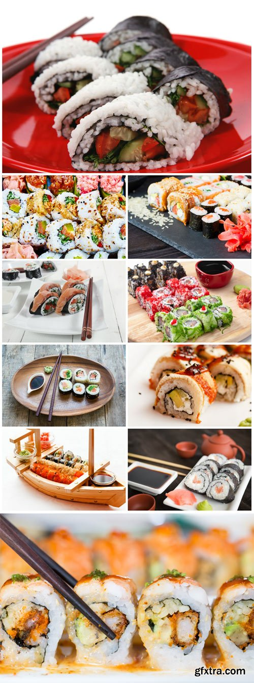 Rolls, sushi sets stock photo