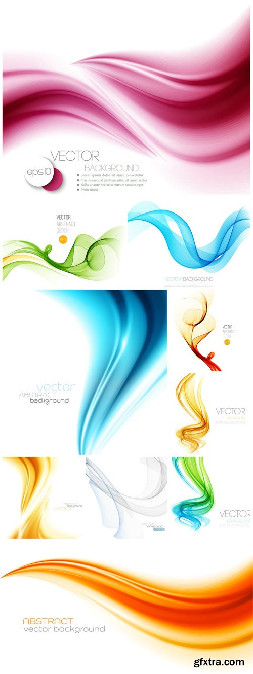 Vector backgrounds with colored waves