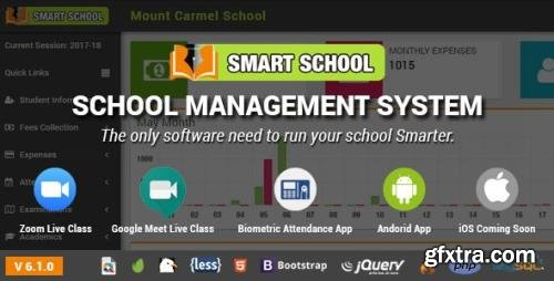 CodeCanyon - Smart School v6.1.0 - School Management System - 19426018 - NULLED