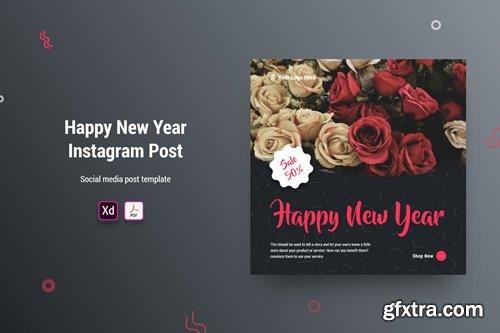 Happy New Year Instagram Post Banner