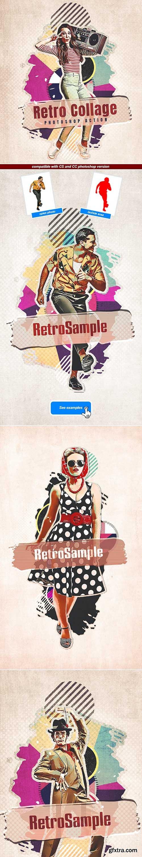 GraphicRiver - Retro Collage - Photoshop Action 29506190