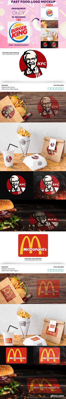 Fast Food Logo PSD Mockup