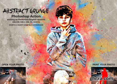 CreativeMarket - Durable Oil Painting PS Action 5475013