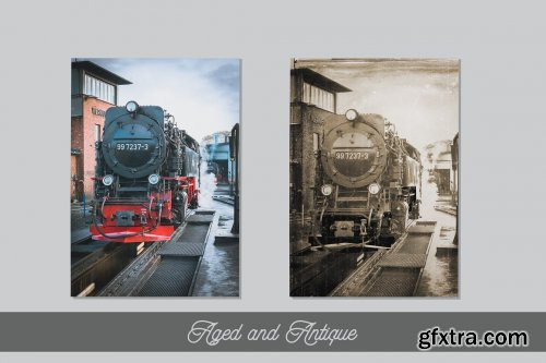 CreativeMarket - Vintage Look Photoshop Actions Pack 5721333