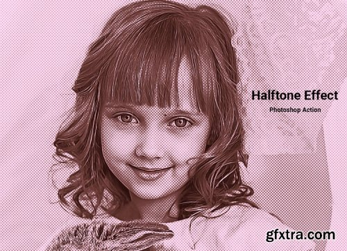 CreativeMarket - Halftone Effect Photoshop Action 5099129