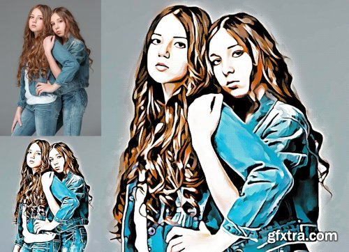 CreativeMarket - Comic Effect Photoshop Action 5183708