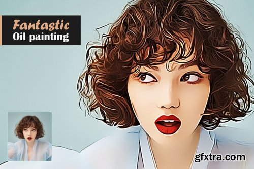 CreativeMarket - Fantastic Oil Painting 5567355