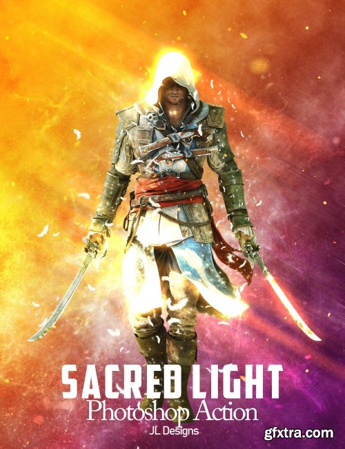 CreativeMarket - Sacred Light Photoshop Action 5299180