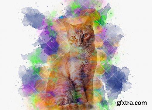 CreativeMarket - Wonder Watercolor Art PS Action 5604702