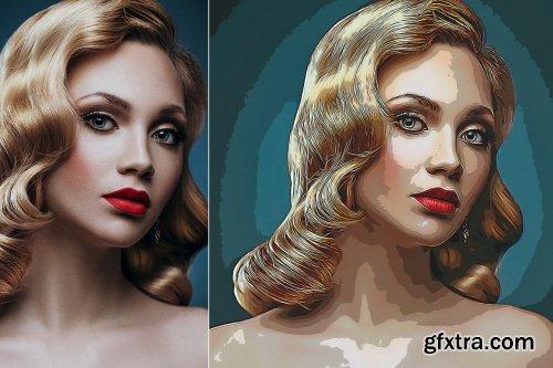 CreativeMarket - Cartoon Oil Art Painting 5529658