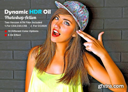 CreativeMarket - Dynamic HDR Oil Photoshop Action 5608920